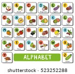 vector color alphabet with... | Shutterstock .eps vector #523252288