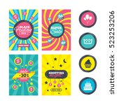 sale website banner templates.... | Shutterstock . vector #523253206