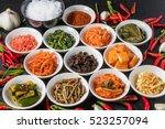 korean spice and kimchi | Shutterstock . vector #523257094