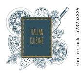 italian cuisine vector...   Shutterstock .eps vector #523258339