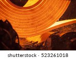 iron and steel factory and... | Shutterstock . vector #523261018