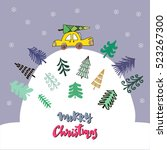 funny hand drawn christmas ...   Shutterstock .eps vector #523267300