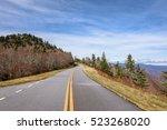 Scenic Road View On Blue Ridge...
