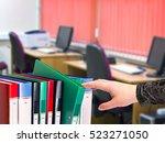 office document folders...   Shutterstock . vector #523271050
