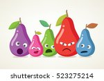 crazy vector pears. a set of... | Shutterstock .eps vector #523275214