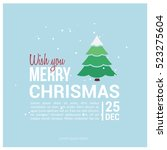 merry christmas card. vector... | Shutterstock .eps vector #523275604