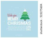 merry christmas card. vector... | Shutterstock .eps vector #523275604