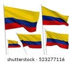 colombia vector flags set. 5...   Shutterstock .eps vector #523277116