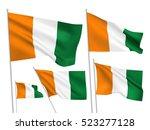 cote divoire vector flags set.... | Shutterstock .eps vector #523277128