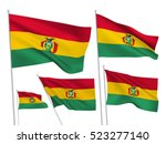 bolivia vector flags set. 5... | Shutterstock .eps vector #523277140
