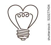 silhouette light bulb flat icon ... | Shutterstock .eps vector #523277434