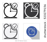 clock icon. set of flat style.... | Shutterstock .eps vector #523279156