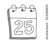 hand drawing of calendar day... | Shutterstock .eps vector #523280854