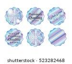 holographic set shapes...   Shutterstock .eps vector #523282468