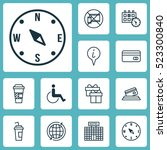 set of 12 transportation icons. ...