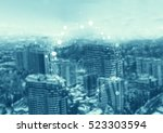 abstract technology background... | Shutterstock . vector #523303594