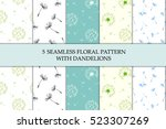 vector illustration set of five ... | Shutterstock .eps vector #523307269