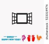 window vector icon | Shutterstock .eps vector #523319974