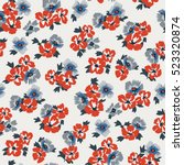 seamless floral pattern in... | Shutterstock .eps vector #523320874