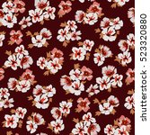 seamless floral pattern in... | Shutterstock .eps vector #523320880
