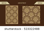 diy laser cutting set. woodcut... | Shutterstock .eps vector #523322488