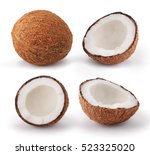 Coconuts Isolated On White...