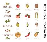 vector calendar template. times ... | Shutterstock .eps vector #523328068
