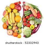 fruits and vegetables in the... | Shutterstock . vector #52332943