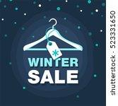 winter sale banner. vector... | Shutterstock .eps vector #523331650