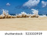 Ocean Beach Wave Splash Up On...