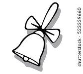 vector. christmas bells icon... | Shutterstock .eps vector #523339660