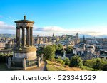 edinburgh skyline as seen from... | Shutterstock . vector #523341529