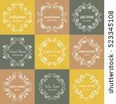 vector ink  logo template... | Shutterstock .eps vector #523345108