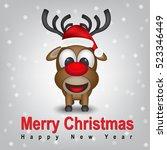 merry christmas  | Shutterstock .eps vector #523346449