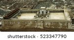 model of the second temple.... | Shutterstock . vector #523347790