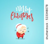 christmas characters cute an... | Shutterstock .eps vector #523348078