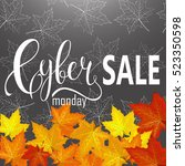 cyber monday sale label.... | Shutterstock .eps vector #523350598