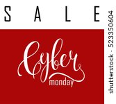 cyber monday sale label.... | Shutterstock .eps vector #523350604