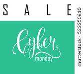 cyber monday sale label.... | Shutterstock .eps vector #523350610