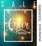 cyber monday sale label.... | Shutterstock .eps vector #523350850