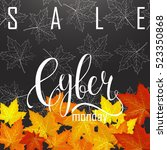 cyber monday sale label.... | Shutterstock .eps vector #523350868
