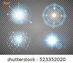 blue glitter bokeh lights and... | Shutterstock .eps vector #523352020