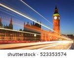 big ben and house of parliament ... | Shutterstock . vector #523353574