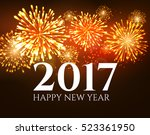 2017 new year background banner ... | Shutterstock . vector #523361950