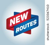 new routes arrow tag sign. | Shutterstock .eps vector #523367410