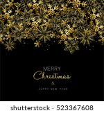 merry christmas greeting design ... | Shutterstock . vector #523367608