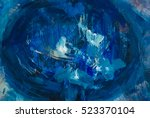 Art Abstract Deep Blue Color...