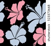 creative universal floral... | Shutterstock . vector #523373668