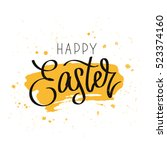 happy easter. the trend...   Shutterstock .eps vector #523374160