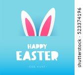 happy easter. the trend... | Shutterstock .eps vector #523374196